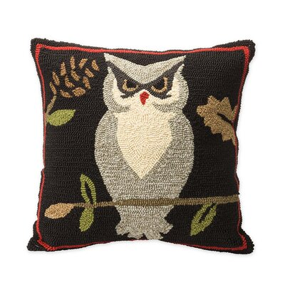 Woodland with Owl Indoor/Outdoor Throw Pillow