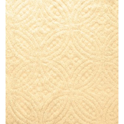 Wedding Ring Tufted Chenille Sham Color: Butter
