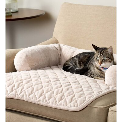 Sofa Pillow Furniture Cover Bolster for Pets Color: Cream