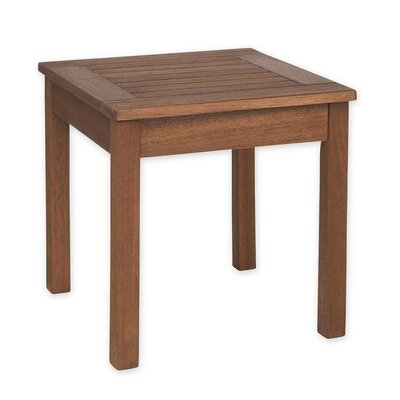 Slatted Wood End Table Color: Natural Satin
