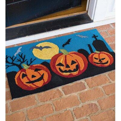 Carved Pumpkin Indoor/Outdoor Doormat