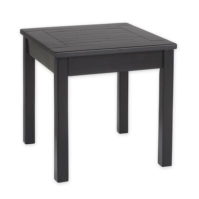 Slatted Wood End Table Color: Black