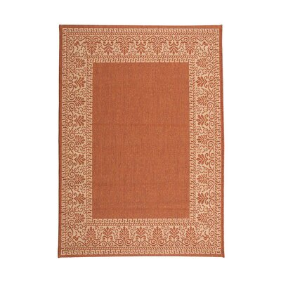Veranda Border Terra Cotta Indoor/Outdoor Area Rug