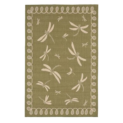 Dragonflies Moss Indoor/Outdoor Area Rug