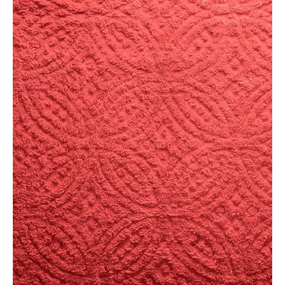 Wedding Ring Tufted Chenille Sham Color: Paprika