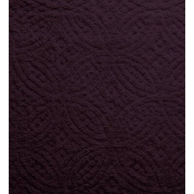 Wedding Ring Tufted Chenille Sham Color: Eggplant