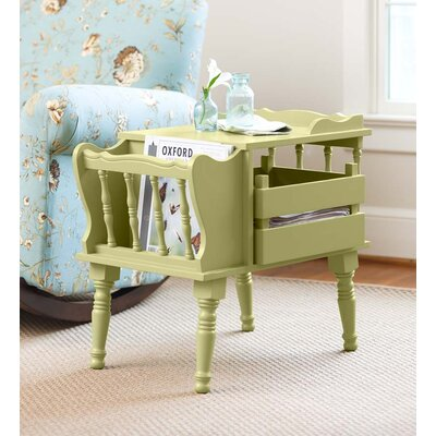 Magazine End Table with Removable Storage Boxes Color: Sage