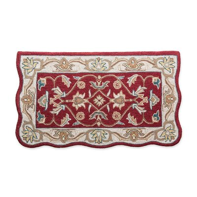 McLean Hand-Tufted Wool Merlot Area Rug