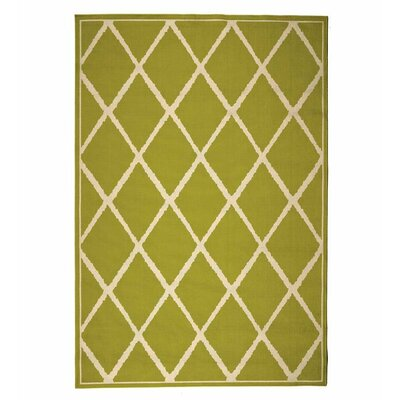 Indoor/Outdoor Green Area Rug Rug Size: Rectangle 25 x 45