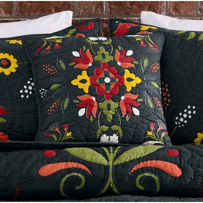 Ansley Folk Art 100% Cotton Throw Pillow