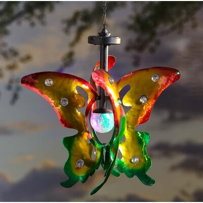Hanging Solar Butterfly Wind Spinner 55050