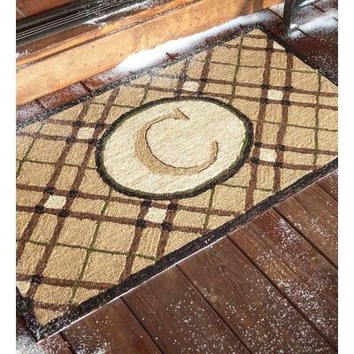 Monogrammed Welcome Doormat Letter: C