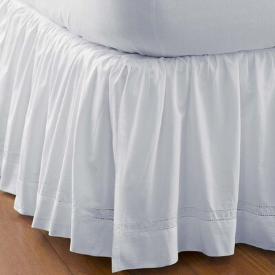 King Hemstitch Gathered Bed Skirt
