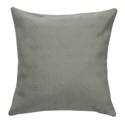 Leia Matelasse Zippered Pillow Case Color: Charcoal