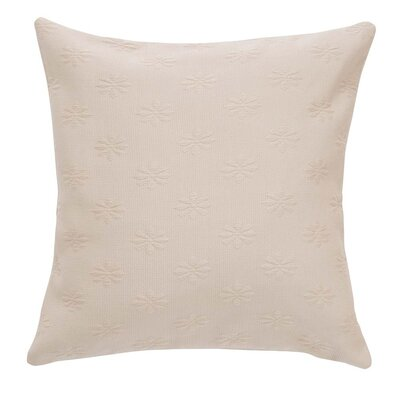 Leia Matelasse Zippered Pillow Case Color: Natural