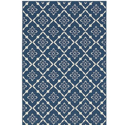 Lexington Trellis Navy Indoor/Outdoor Area Rug