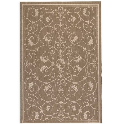 Veranda Scroll Cocoa Indoor/Outdoor Area Rug
