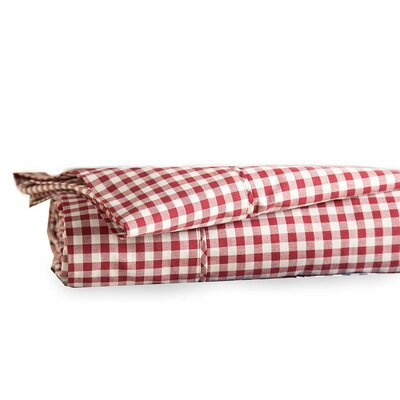 Gingham 200 Thread Count 100% Cotton Sheet Set