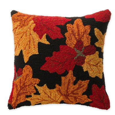 Falling Leaves Outdoor Throw Pillow