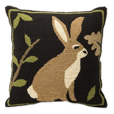 Woodland Rabbit Outdoor Throw Pillow