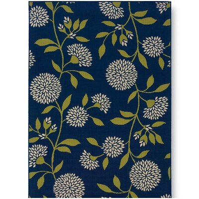 Floral Surry Blue Outdoor Area Rug Rug Size: 67 x 96