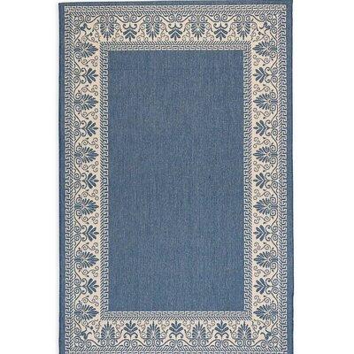 Veranda Blue Outdoor Area Rug Rug Size: 76 x 109