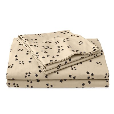 Paw Print 200 Thread Count 100% Cotton Sheet Set Size: King