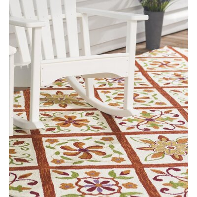 Kaleidoscope Hand Hooked Brown/Yellow Indoor/Outdoor Area Rug Rug Size: Rectangle 5 x 75