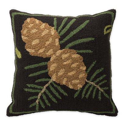 Woodland Pine Cones Outdoor Throw Pillow