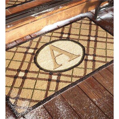 Monogrammed Welcome Doormat Letter: A