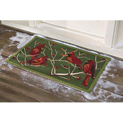 Cardinal Hand-Hooked Indoor/Outdoor Area Rug