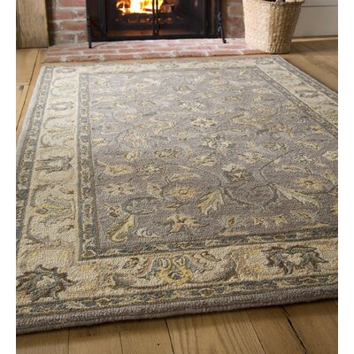 McLean Hand-Tufted Wool Gray/Ivory Area Rug Rug Size: 5 x 8