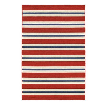 Lexington Stripe Red/Blue Indoor/Outdoor Area Rug