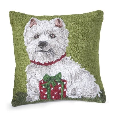 Hooked Holiday Wool Throw Pillow