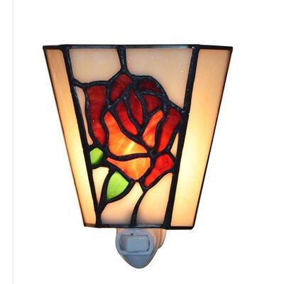 Rose Tiffany-Style Night Light
