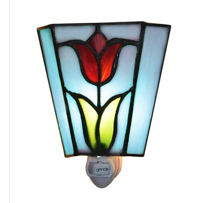 Tulip Stained Glass Night Light