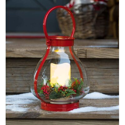 Holiday Decorative Lantern Color: Red 65C09 RD