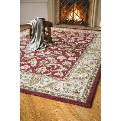 McLean Merlot Hand Tufted Wool Merlot Indoor Area Rug Rug Size: Rectangle 5 x 8