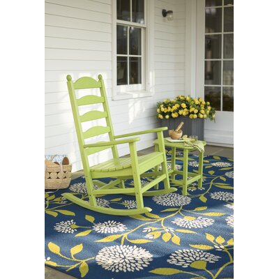 Floral Surry Blue Outdoor Area Rug Rug Size: 53 x 76