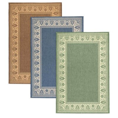 Veranda Blue Outdoor Area Rug Rug Size: 53 x 76