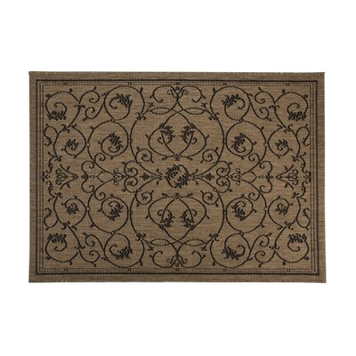 Veranda Black Outdoor Area Rug Rug Size: 53 x 76