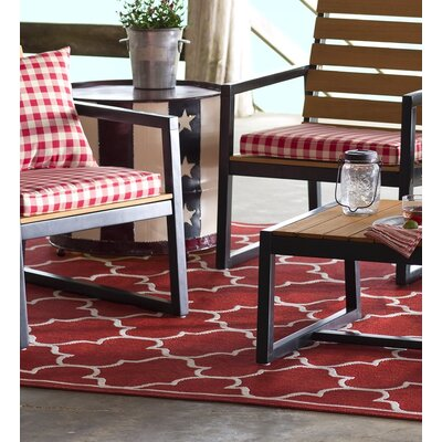 Lexington Red Outdoor Area Rug Rug Size: 53 x 76