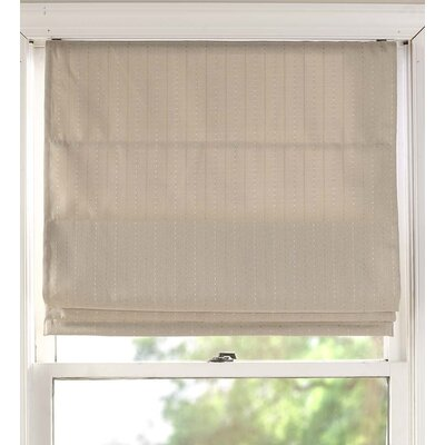 Diamond Dot Room Darkening Roman Shade Blind Size: 34 W x 63 L, Color: Natural