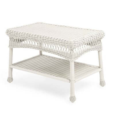 Wicker Coffee Table Color: Bright White