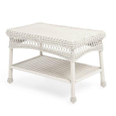 Wicker Coffee Table Color: Bright White