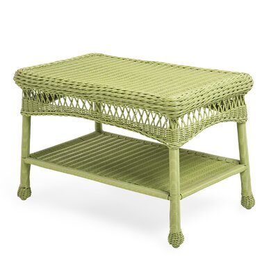 Wicker Coffee Table Color: Lime