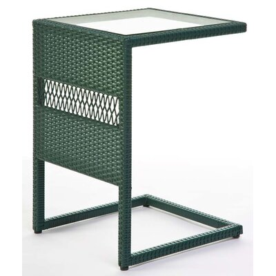 Resin/Wicker Pull Up End Table Color: Green