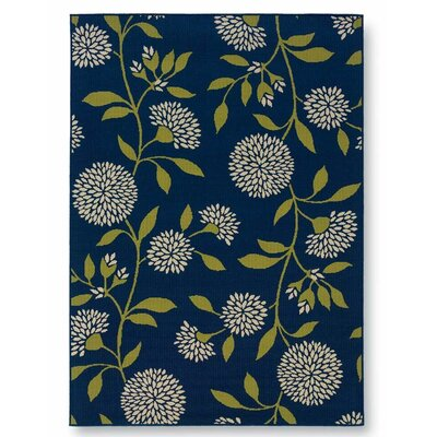 Floral Surry Blue Indoor/Outdoor Area Rug Rug Size: Rectangle 25 x 45