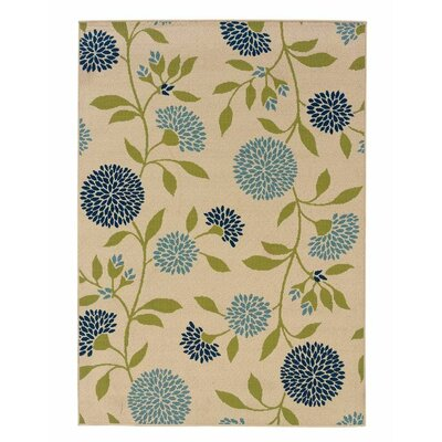 Floral Surry Ivory Indoor/Outdoor Area Rug