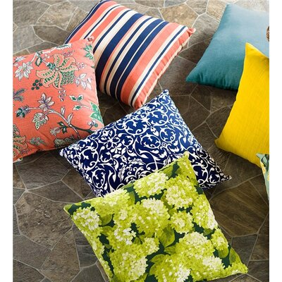 Shenandoah Outdoor Throw Pillow Color: Midnight Stripe